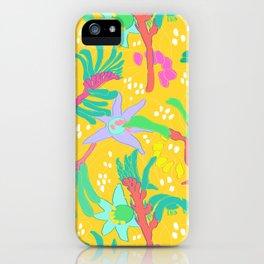Australian Kangaroo Paw Floral in Golden Mango iPhone Case