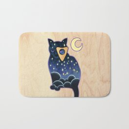 Ouija Cat Bath Mat
