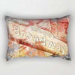 Broadway street sign mixed media art Rectangular Pillow