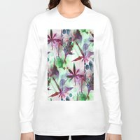 northern lights Long Sleeve T-shirts featuring Northern Lights by Cannabis Color Art