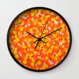 Background of Traditional Candy Corn Wall Clock