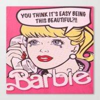barbie Canvas Prints featuring Barbie by LuxuryLivingNYC