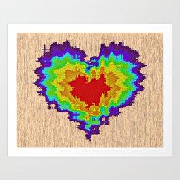 Colors heart Art Print