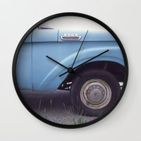 ford Wall Clocks featuring ford by auntie loren