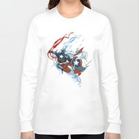 captain Long Sleeve T-shirts featuring CAPTAIN by Lera Razvodova