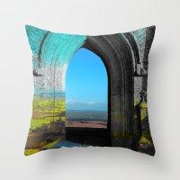 portal Throw Pillows featuring Portal by Tobias Bowman