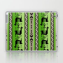 Llamas_Green and WarmGray Laptop & iPad Skin