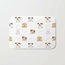 Puppy Dog Baby Nursery Wall Art Bath Mat