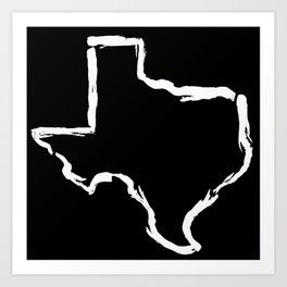 Best. State. Ever. (in white) Art Print