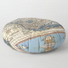World map 1492 Floor Pillow