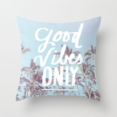 Good Vibes Only (palm trees) Throw Pillow