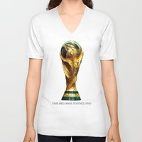 world cup V-neck T-shirts featuring World Cup by Rothko