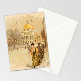 Graham, Charles (1852-1911) - Boston Rubber Shoe Catalogue 1896 - State House Boston Stationery Cards