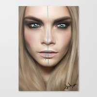 cara Canvas Prints featuring Cara by Anna Sun