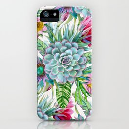 Exotic flower garden iPhone Case