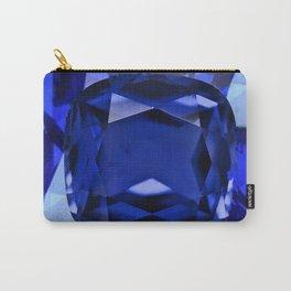 BLUE SAPPHIRE BIRTHSTONE GEM ART Carry-All Pouch