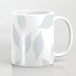 Autumn Leaves Pattern #7 #LightBlueGrey #White #foliage #decor #art #society6 Coffee Mug