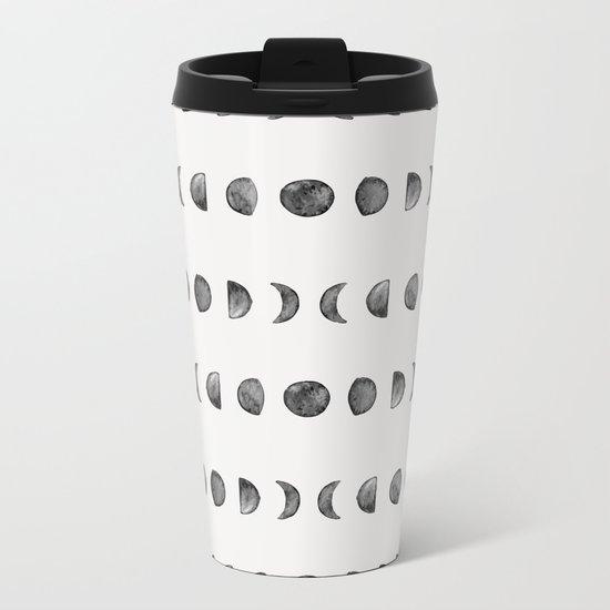 Moon Phases Metal Travel Mug