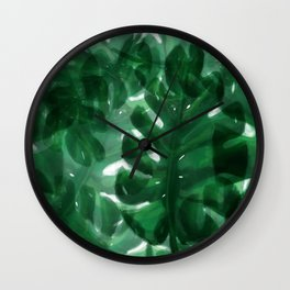 Monstera Leaves Wall Clock
