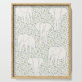 Elephant geometric pattern by The Botanical Study Serving Tray