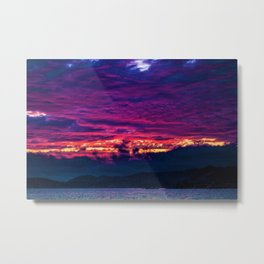 Mount Desert Island, Arcadia Maine Sunset Metal Print