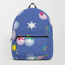 Snowflakes & Pair Snowman_C Backpack
