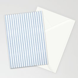 FADED DENIM CHAMBRAY STRIPES Stationery Cards