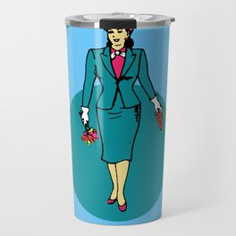 La Dama Mexican Loteria Travel Mug