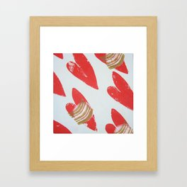hearts in flight Framed Art Print