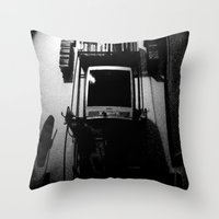 tv Throw Pillows featuring television. by azyxz