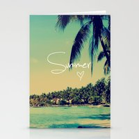 coachella Stationery Cards featuring Summer Love Vintage Beach by Directapparelco
