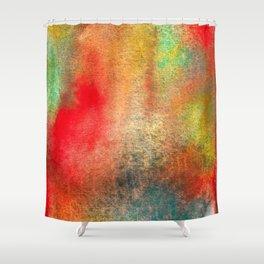 Abstract Watercolor Minimalist Ocean Reef Series - Untitled III Shower Curtain