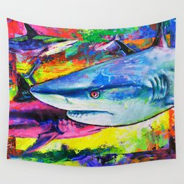 Shark Colors Wall Tapestry