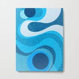 Blue Shag: A Wall Rug Design Metal Print