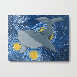 Whale Watching on a Starry Night Metal Print