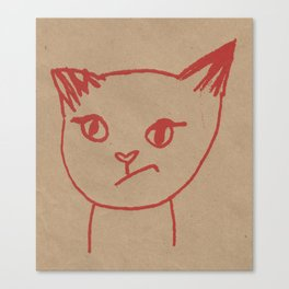 Cranky Kitty by Brit Hunter Canvas Print