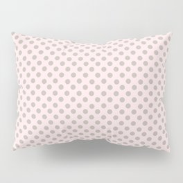 Taupe Polka Dots on Pink Pillow Sham