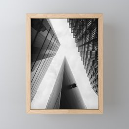 Modern Buildings London Finance Abstract Framed Mini Art Print