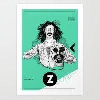 zappa Art Prints featuring Zappa by Franko Schiermeyer