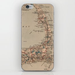 Vintage Map of Cape Cod MA (1905) iPhone Skin