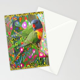 Fantasy Garden Lorikeets Stationery Cards