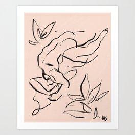 A love like wildflowers Art Print