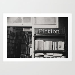 getting lost in a book store Art Print