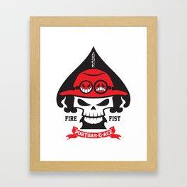 Portgas D. Ace - Fire Fist Framed Art Print