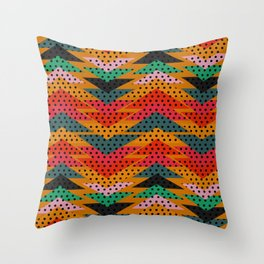 Spotty triangles Throw Pillow