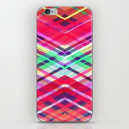 Modern Pink Tribal Plaid iPhone Skin