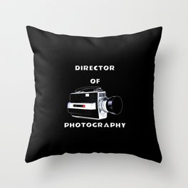 Director Of Photography Throw Pillow