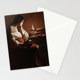 Georges de La Tour - Magdalen with the Smoking Flame Stationery Cards