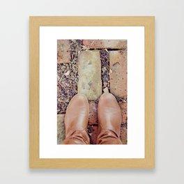Winter Boots Framed Art Print