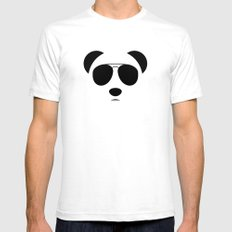 Panda Eyes White Mens Fitted Tee LARGE